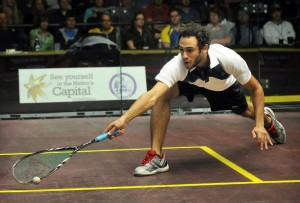 Egypt's Ramy Ashour pictured during the Australian Open squash tournament in Canberra on 19 August 2012