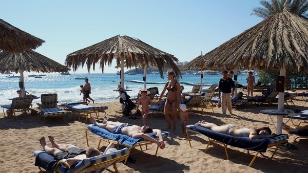 Occupancies in Hurghada approached 80% at the end of last week. (AFP File Photo)