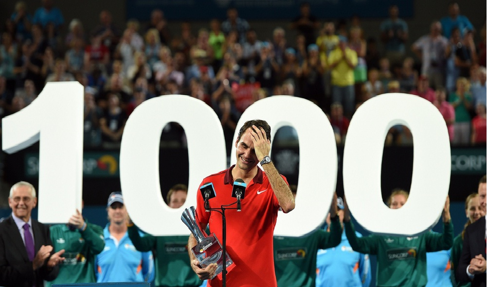 Federer achieved his 1,000th victory in his professional career to enter the club of thousands alongside Americans Jimmy Connors, with 1,253 victories, and Ivan Lendl, with 1,071 victories.