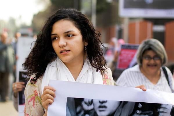 Sanaa Seif was arrested for protesting against the Protest Law (Public Domain photo)
