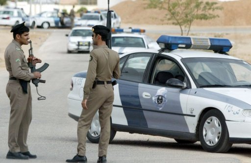 Saudi police are shown near Riyadh in 2006 (AFP/File, Hassan Ammar)