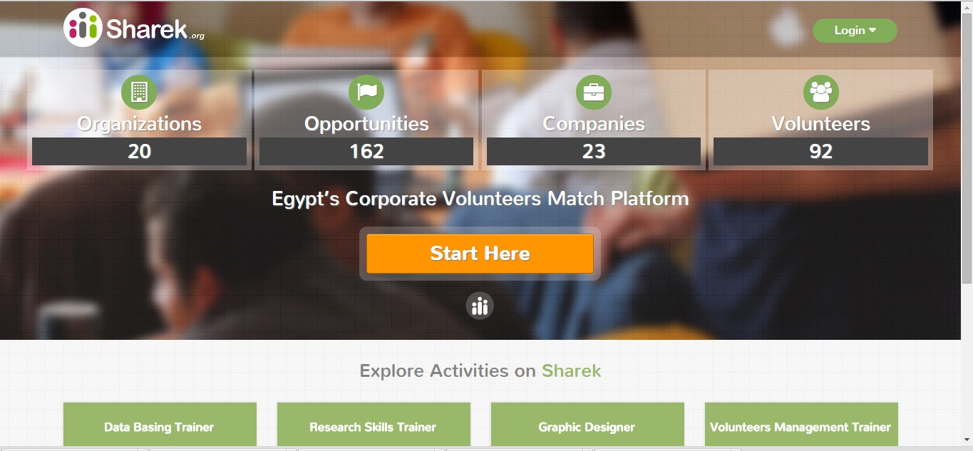 The private companies launched the website, called Sharek.org, in May.  (Photo Screen Shot)