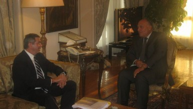 Foreign Minister Sameh Shoukry met with European Union Special Representative for Human Rights Stavros Lambrinidis at the ministry headquarters.