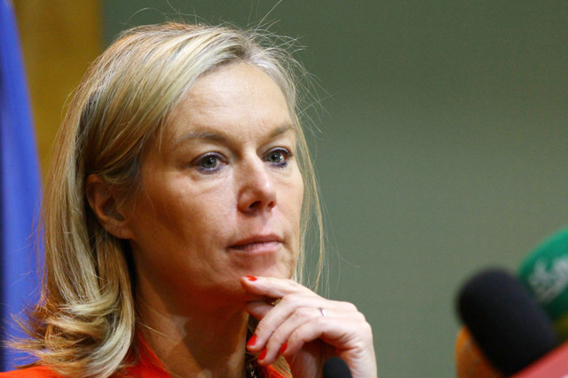 Sigrid Kaag, Special Coordinator of the Joint Mission of the Organization for the Prohibition of Chemical Weapons (OPCW) and the UN (AFP Photo)