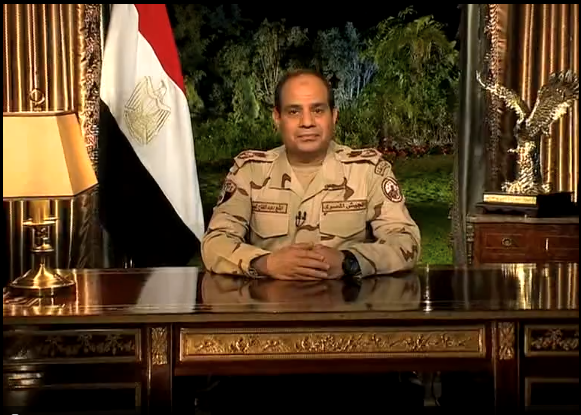 Field Marshal Abdel Fattah Al-Sisi announces intention to run for president in national address