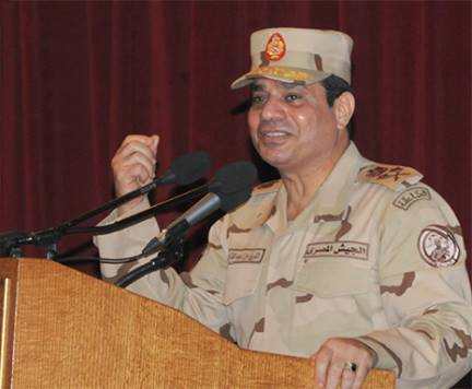 Commander-in-Chief of the Armed Forces Abdel Fattah Al-Sisi stressed on Saturday he would do whatever Egyptians demand, in response to questions over a potential candidacy for president. (Photo from Army Spokesperson Facebook Page)
