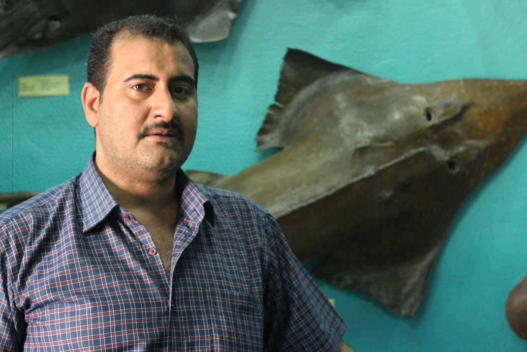 The marine biology station's manager Baher Ezzat. (Photo By Aya Nader)