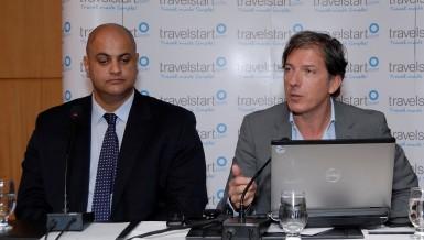 CEO of Travelstart Stephan Ekbergh and Regional Director Ahmed Saad