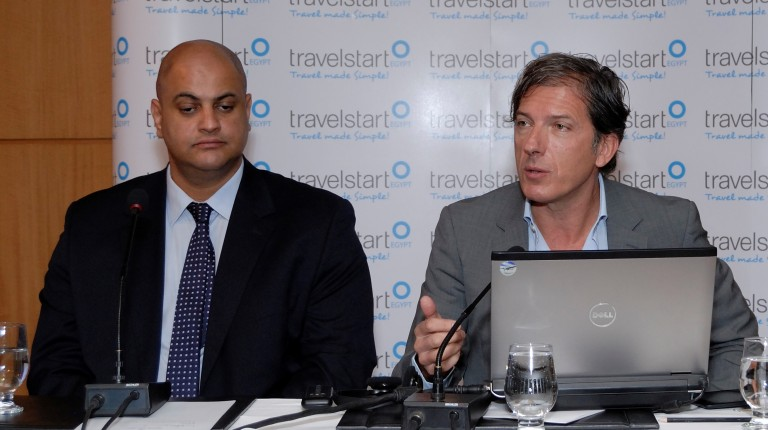 CEO of Travelstart Stephan Ekbergh and Regional Director Ahmed Saad