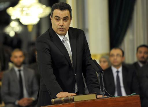 Tunisian Industry Minister Mehdi Jomaa takes an oath of office on March 13, 2013 at the Carthage Palace in Tunis  (AFP/File, Fethi Belaid)