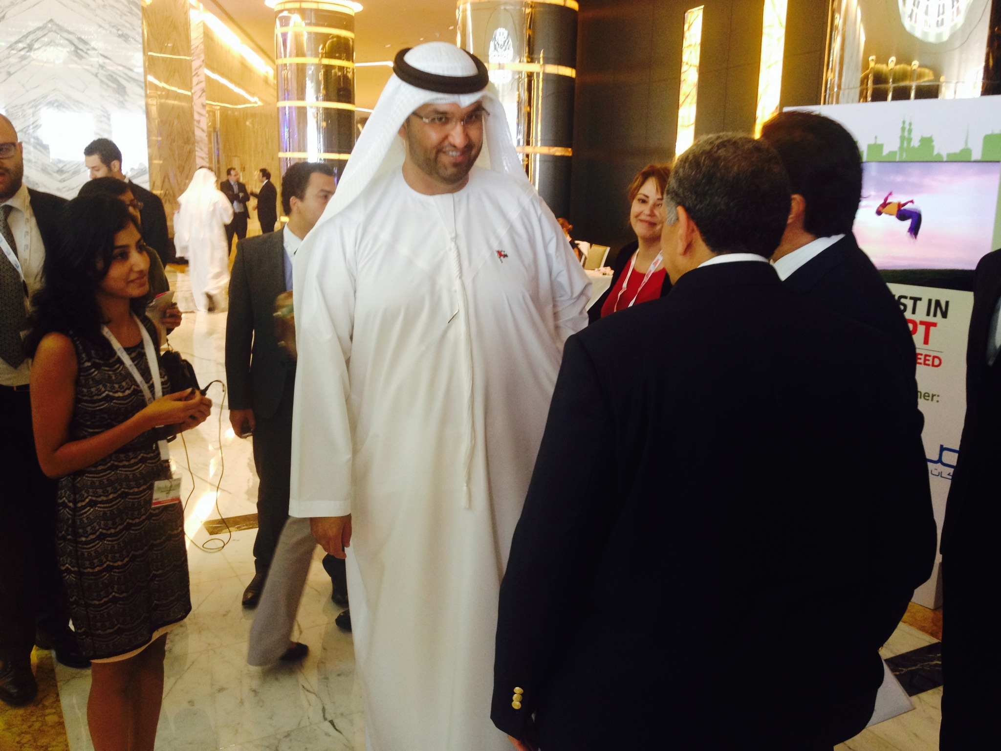 "Sultan Al-Jaber,"" the UAE Minister of State, attended the 'Invest in Egypt 2014' conference in Abu Dhabi on Thursday."
