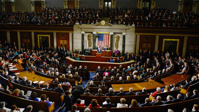US Congress in the House chamber at the Capitol  (AFP File Photo / Brendan Smialowski)