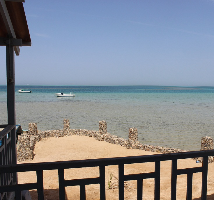 View from Professor Gohar's rest house, Northern Hurghada. (Photo by Aya Nader)