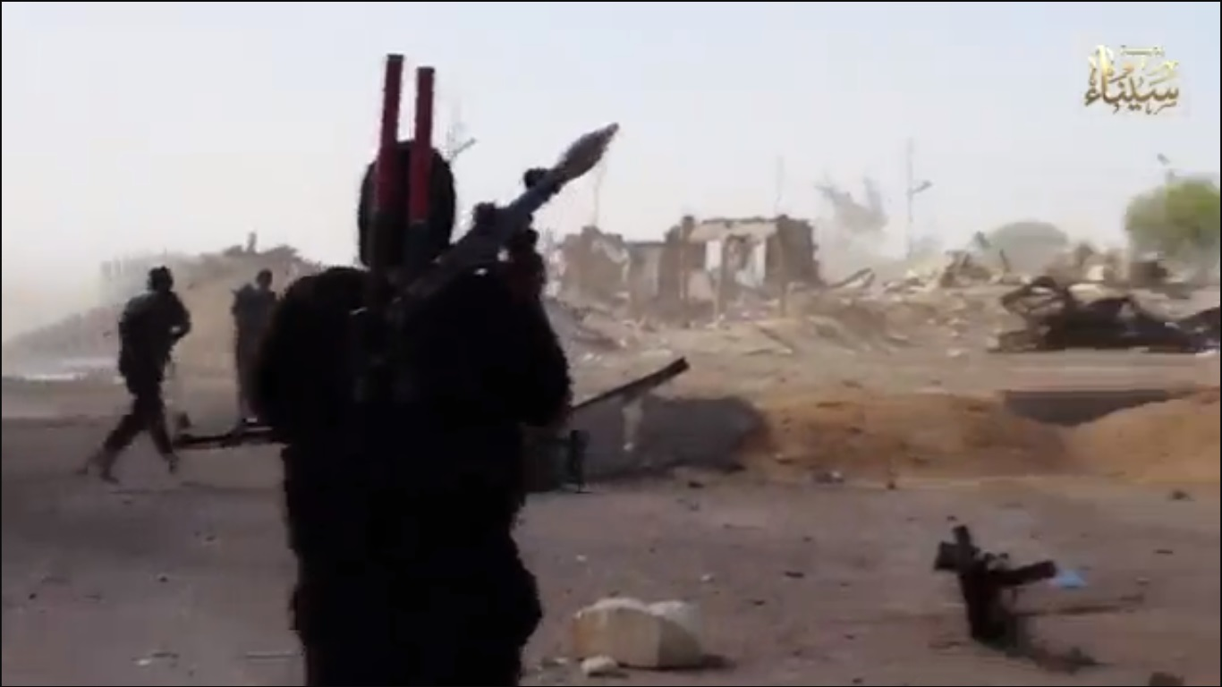 Screenshot from Ansar Beit Al-Maqdis video