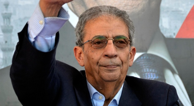 Former presidential candidate and Chairman of the Constituent Assembly Amr Moussa (AFP Photo)