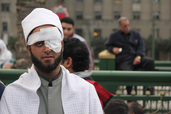 Sheikh Anas Al Sultan at Tahrir Square. (Photo from public domain)