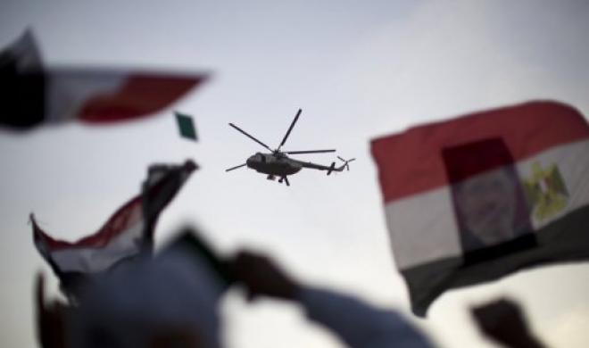 The armed forces dropped flyers onto protesters from helicopters on Sunday night (AFP File Photo)