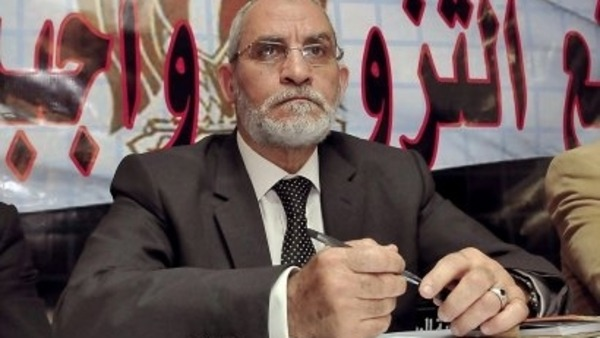 Prosecutor General orders the freezing of funds belonging to Islamist leaders including Supreme Guide of the Musliom Brotherhood Mohamed Badie.  File Photo/AFP