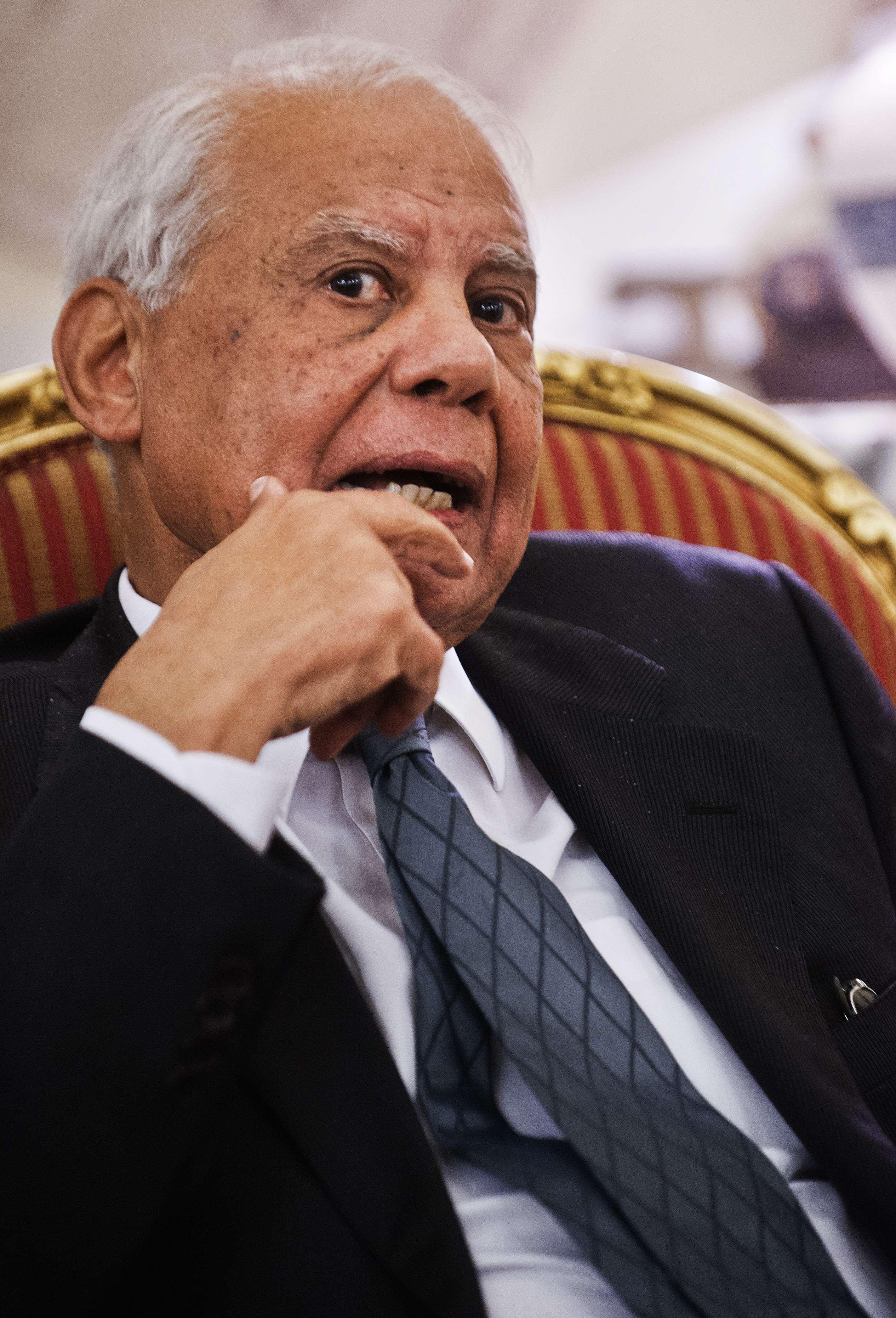 Prime Minister Hazem El-Beblawi (AFP PHOTO/GIANLUIGI GUERCIA)