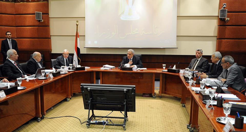 Egypt's cabinet approved during a Thursday meeting the implementation of nine new infrastructure projects in different governorates at a total cost of EGP 391.6m. (Photo Cabinet Handout)