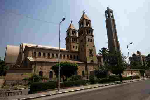 A picture taken on August 16, 2013 shows the St. Mark's Coptic Orthodox Cathedral in the Abbassia a central neighborhood of Cairo  (AFP/File, Gianluigi Guercia)