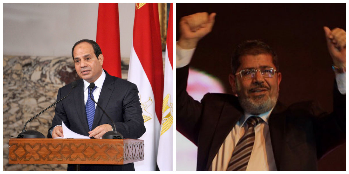 President Abdel Fattah Al-Sisi (L) and Former President Mohamed Morsi (R) (AFP Photo and DNE Photo)