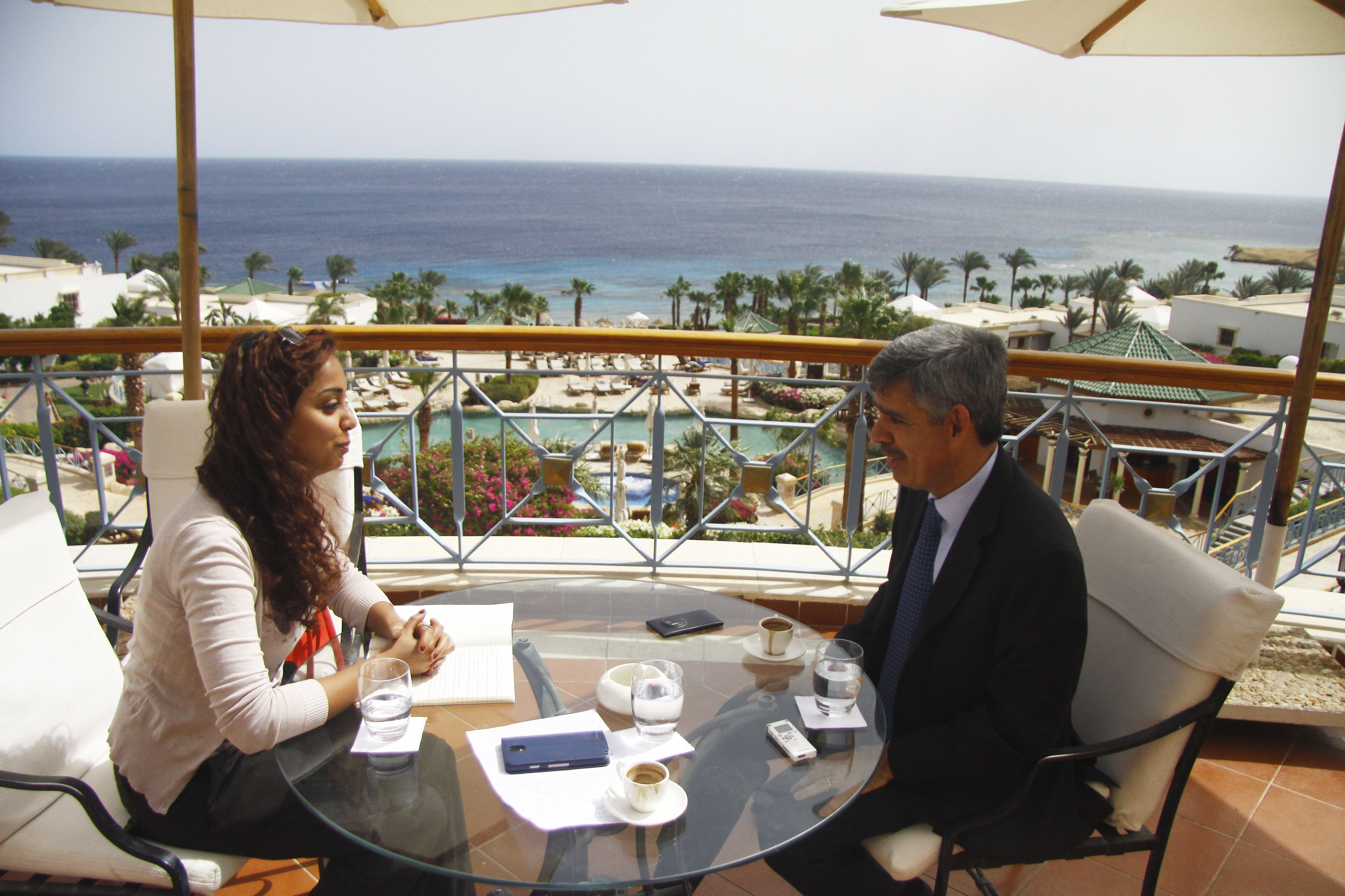 Mohamed El-Erian, Chief Economic Adviser at Allianz SE talks to DNE  (DNE Photo )