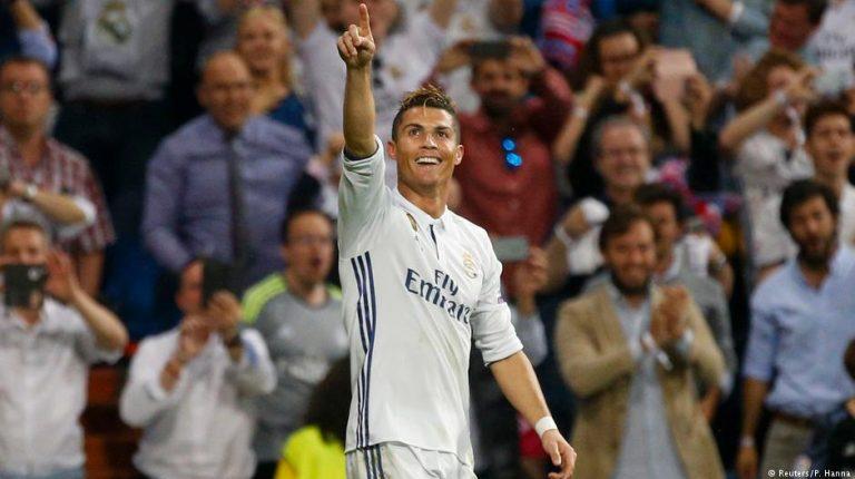 344338e80c2 Champions League  Cristiano Ronaldo grabs hat trick as Real stride ...