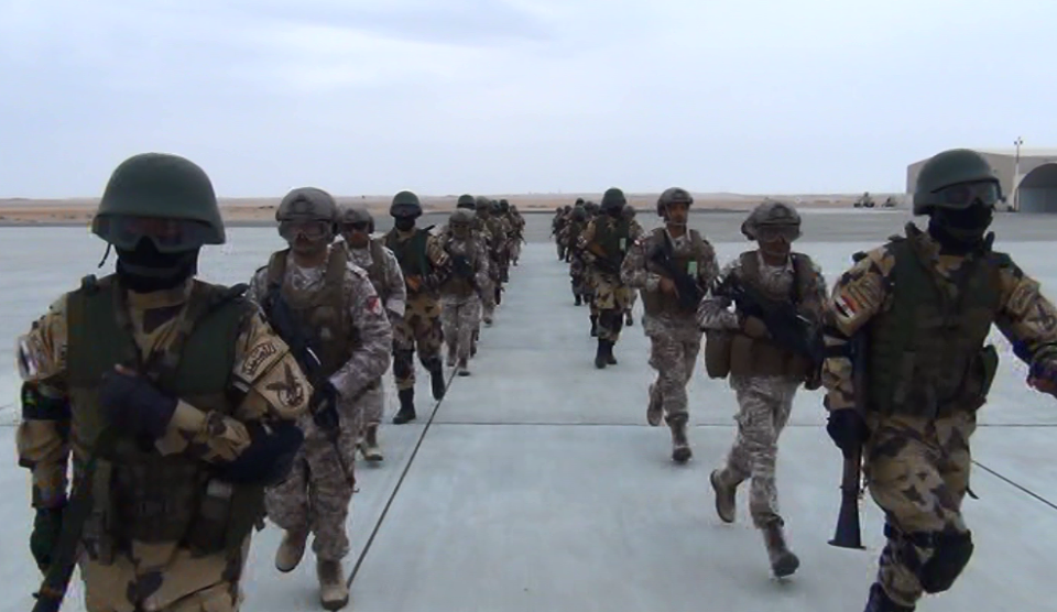 The Egyptian and Emirati armed forces have continued carrying out raids, ambushes and parachute jumping in the United Arab Emirates, as part of Zayed 1, a two-week long joint military exercise. (Photo from Army Spokesman Facebook Page)