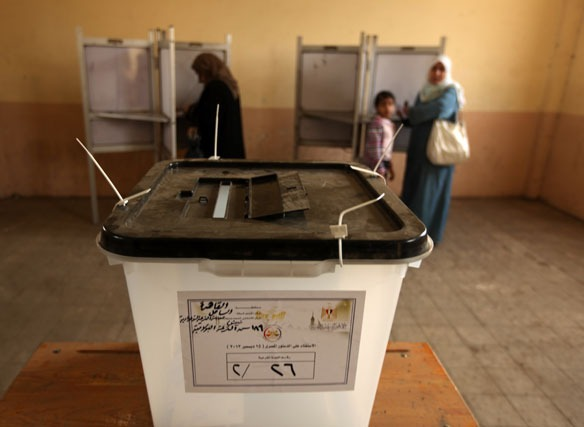 A new voting system will allow Egypt's expatriates to vote abroad, without necessarily registering in advance or holding a residence in the country where the voting takes place (AFP File Photo)