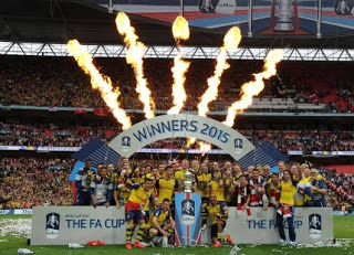 Arsenal were crowned FA Cup winners for the second year in a row