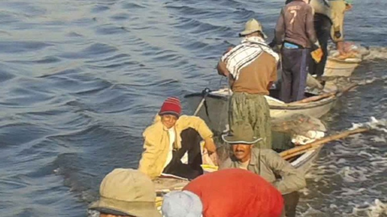 Fishermen in Egypt. Photo Courtesy of The Matariya Fishermen Association in Daqahleya.