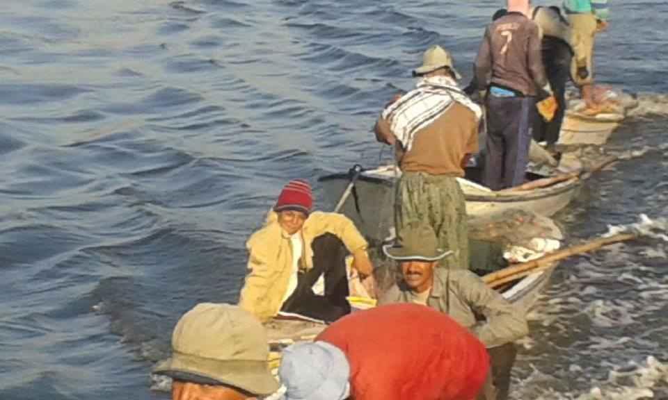 Fishermen in Egypt. Photo Courtesy of The Matariya Fishermen Association in Daqahleya.
