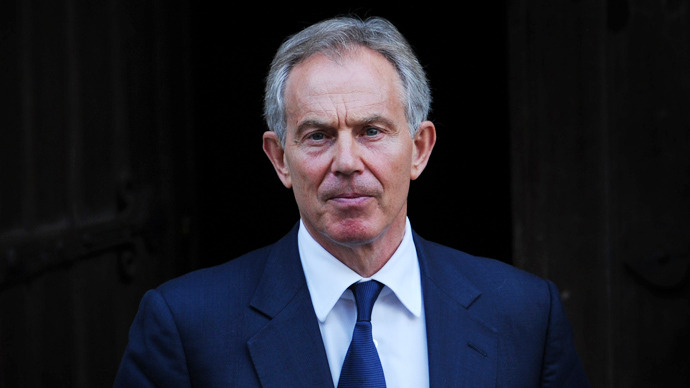 Former British prime minister and Middle East Quartet Envoy Tony Blair (AFP Photo)