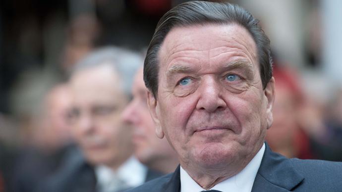 Former German Chancellor Gerhard Schroeder  (AFP Photo)