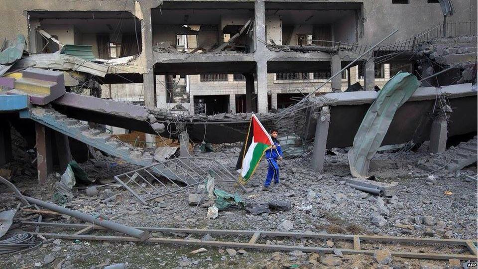 The war in Gaza last summer left 18,000 housing units destoyred or severly damaged, according to the United Nations Office for Coordination of Humanitarian Affairs  (Photo Palestinian  Interior ministry handout)