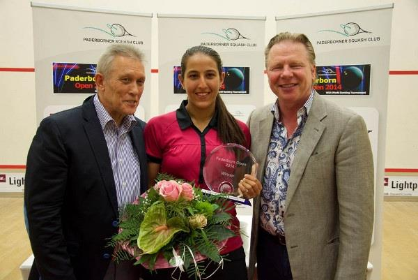 Egyptian teenager Habiba Mohamed Ahmed Alymohmed crushed England's top seed Lisa Aitken in the final of the Women's Paderborn Open. (Photo from WSA World Tour)
