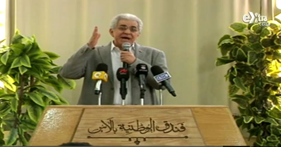 Sabahy launched his campaign in the Upper Egyptian city of Assiut on Saturday, and highlighted various points of his electoral platform, including solar energy, foreign policy, and ways to combat corruption. (Phtoo courtesy of Hamdeen Sabahy)