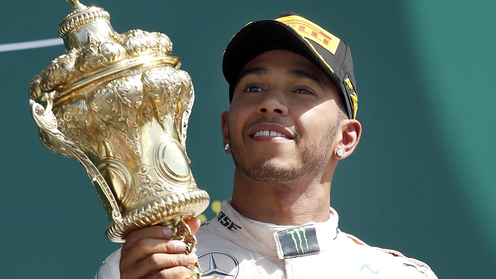 British racing champion Lewis Hamilton won the British Grand Prix at the Silverstone racetrack, driving for Mercedes. (Photo Public Domain)
