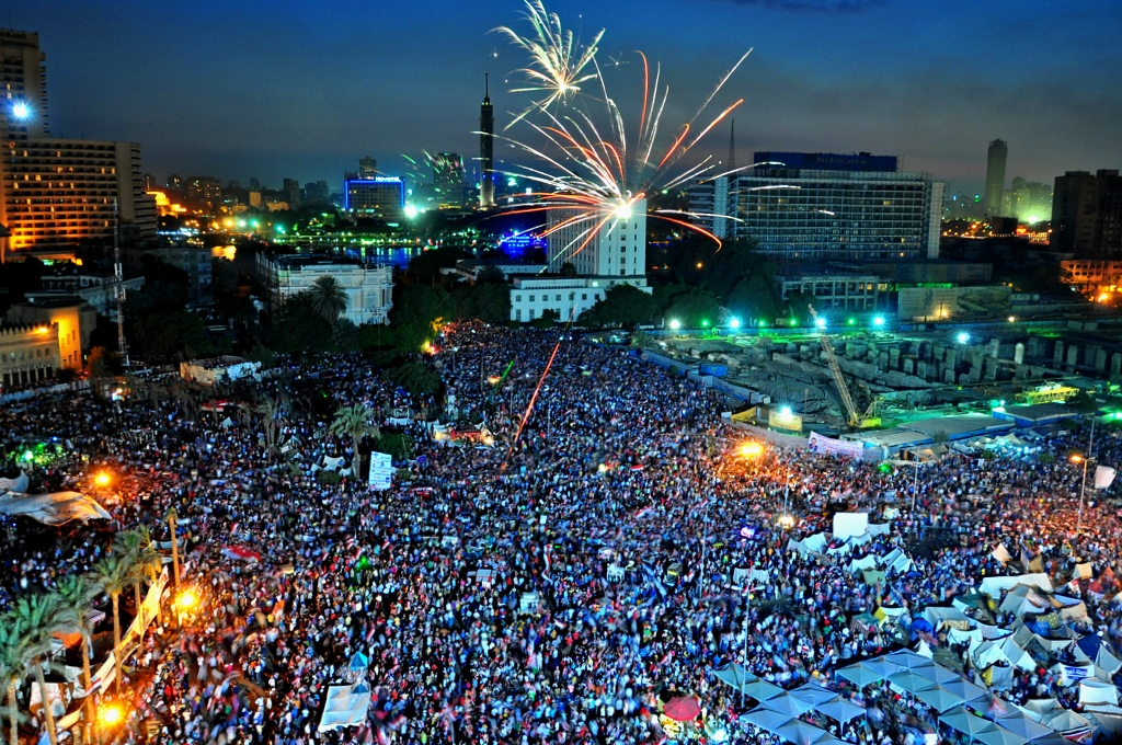 Anti-Morsi Protesters at Tahrir Square July 02, 2013 (Photo by Aaron T Rose)