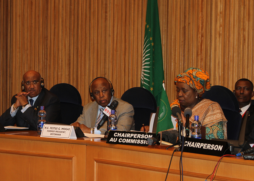 The African Union High-Level Panel for Egypt presented its progress report to the Peace and Security Council on Wednesday evening. Courtesy of the African Union