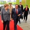 Egypt's President Abdel Fattah Al-Sisi and German Chancellor Angela Merkel