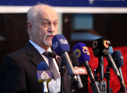 Iraqi Deputy Prime Minister Hussein al-Shahristani speaks during a meeting of politicians and oil experts to discuss the export of oil from the northern Kurdish region on February 1, 2014 in Baghdad  (AFP, Sabah Arar)