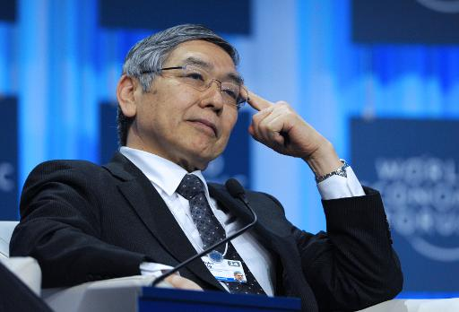Bank of Japan Governor Haruhiko Kuroda at the World Economic Forum in Davos on January 25, 2014 (AFP, Eric Piermont)