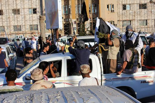 Armed Islamists demonstrate on June 7, 2012 in front of the courthouse in Benghazi for the implementation of haria Law across Libya  (AFP/File, Abdullah Doma)