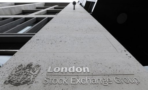 London's FTSE 100 index rose 0.72% to stand at 6,577.71 points in midday deals (AFP/File, Facundo Arrizabalaga)