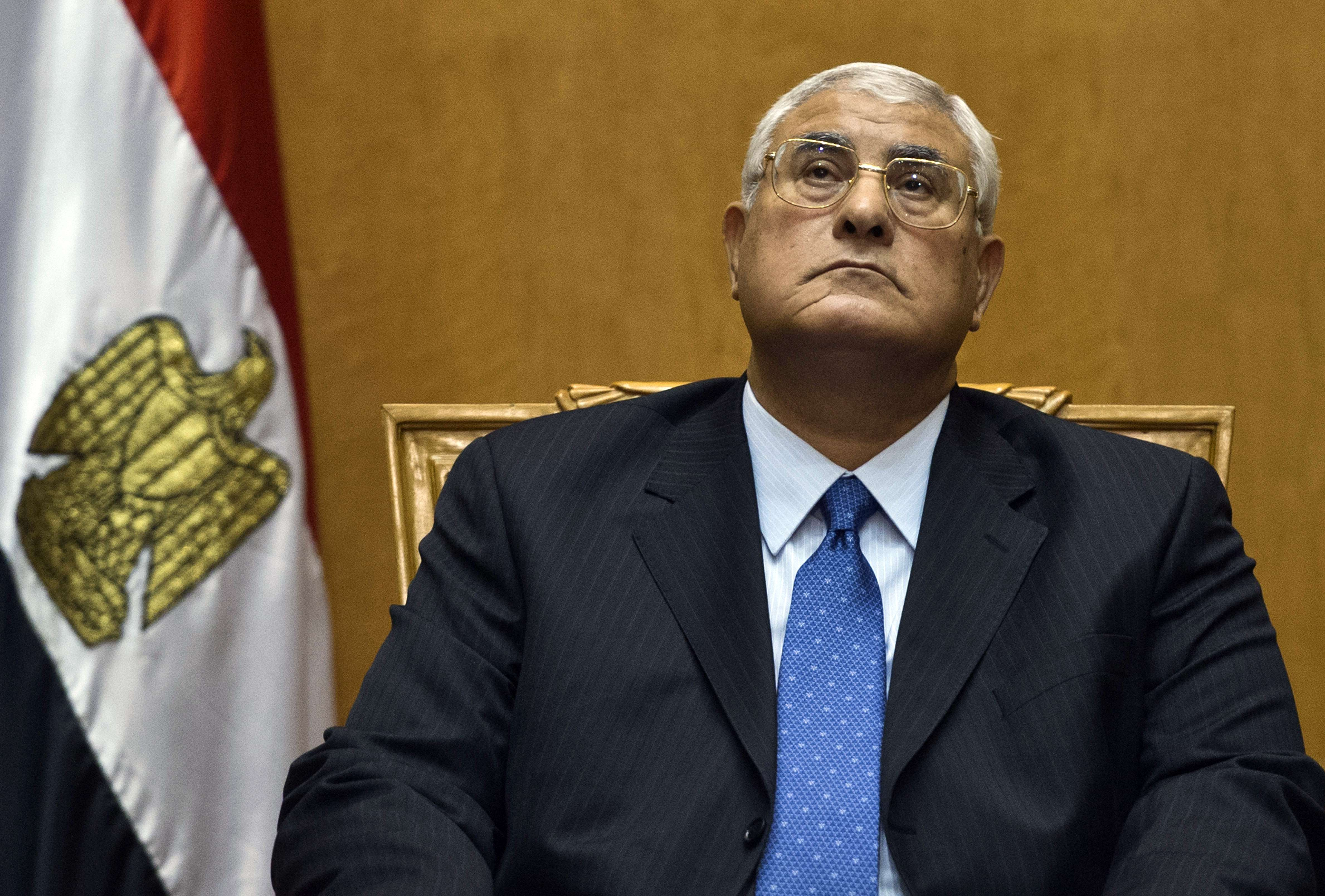 Interim president Adly Mansour  (AFP Photo)