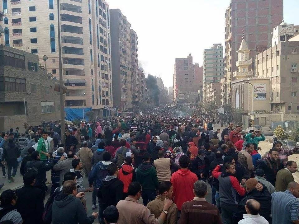 At least 12 protesters were killed Sunday in Matariya, a working class area in north-eastern Cairo, that has become a flashpoint of anti-government protests since the beginning of the 25 January Revolution (Photo by Hamed Abu El-Dahab)
