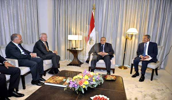 United States Secretary of the Treasury Jack Lew said that the United States supports economic reform programmes in Egypt during his meeting with Prime Minister Ibrahim Mehleb on the sidelines of the US-Africa Summit currently held in Washington. (Photo Cabinet Handout)