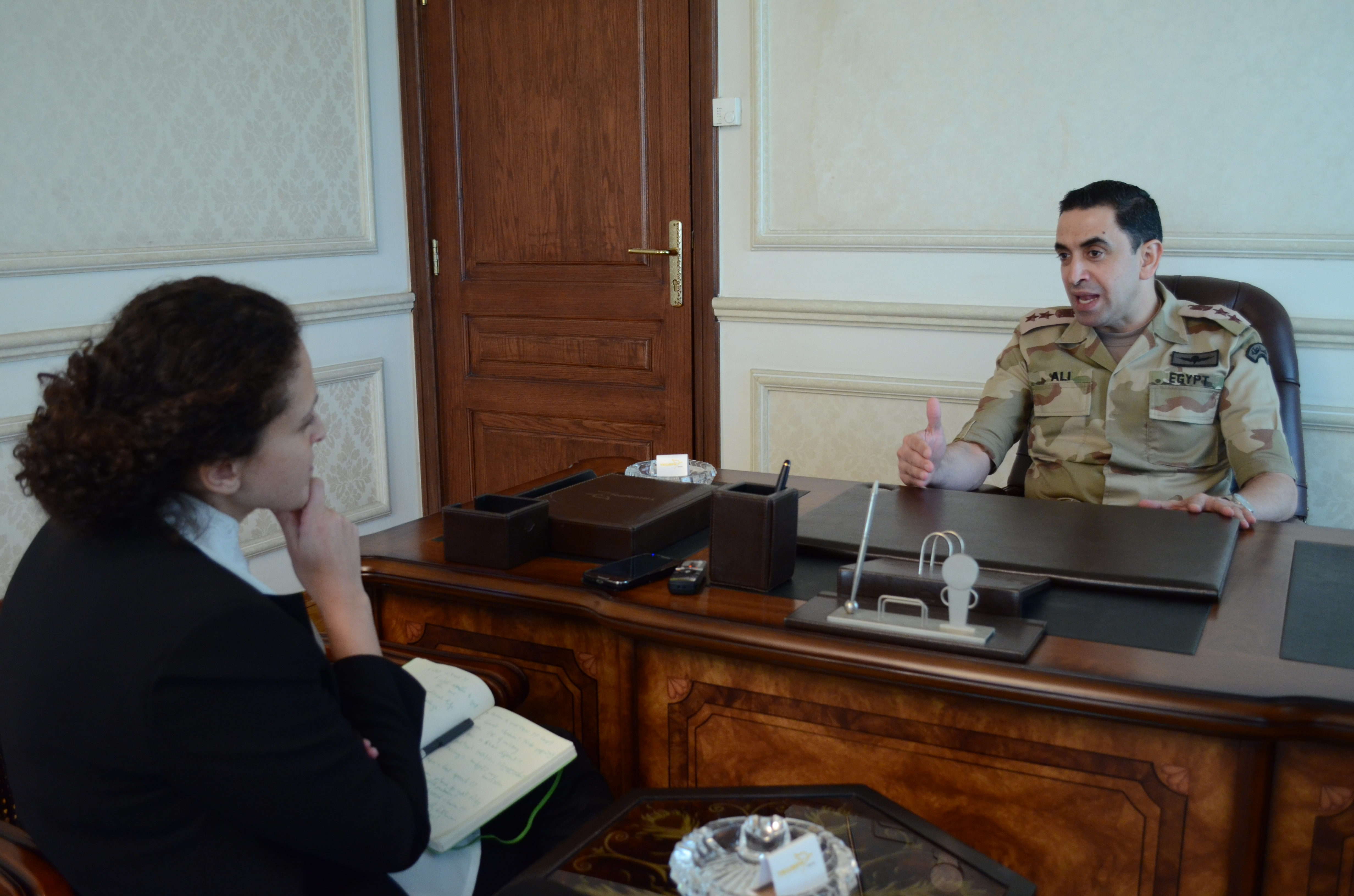 Daily News Egypt sat down with the official spokesman of the armed forces, Colonel Ahmed Ali, for an in-depth discussion of the situation (Photo by Haleem ElShaarany)